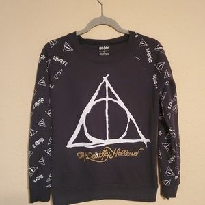 Harry Potter Deathly Hallows Sweatshirt Crewneck